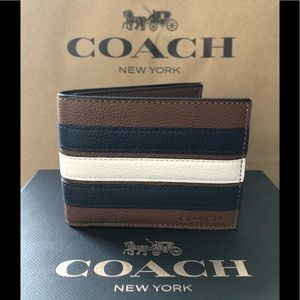 NWT Authentic Coach Slim Signature Varsity Wallet